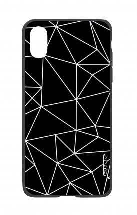 Apple iPh XS MAX WHT Two-Component Cover - Geometric Abstract
