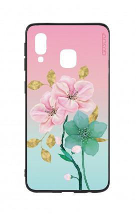 Cover Bicomponente Samsung A20e - Fiori rosa