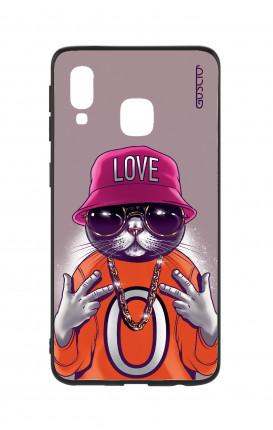 Cover Bicomponente Samsung A20e - Gatto LOVE