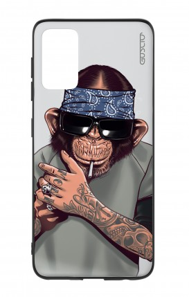 Cover Bicomponente Samsung S20Plus - Scimpanze con bandana