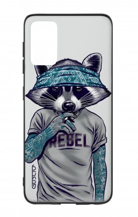 Samsung S20Plus Two-Component Cover - Raccoon with bandana