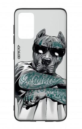 Cover Bicomponente Samsung S20Plus - Pitbull tatuato