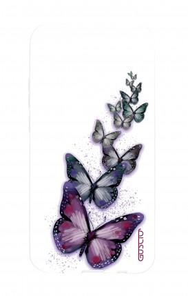 Cover STAND SAMSUNG A6 - Scritte e Cuori rosa nero