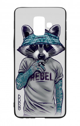 Apple iPhone 7/8 White Two-Component Cover - Raccoon with bandana