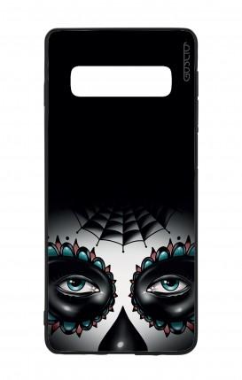 Cover Bicomponente Samsung S10 - Calavera occhi