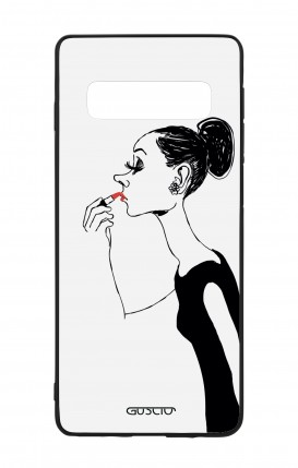 Samsung S10 WHT Two-Component Cover - Lady with Lipstick
