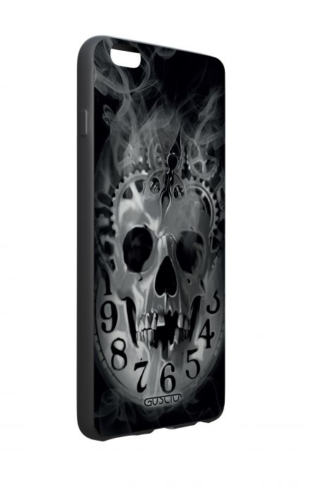Apple iPhone 6 WHT Two-Component Cover - Skull & Clock