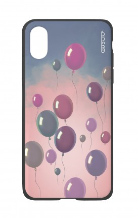 Apple iPh XS MAX WHT Two-Component Cover - Balloons