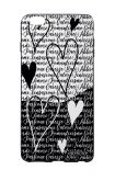 Apple iPhone 6 WHT Two-Component Cover - Black & White Writings