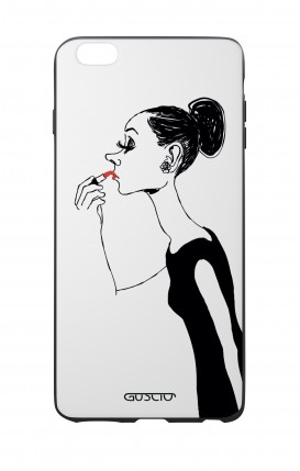 Apple iPhone 6 WHT Two-Component Cover - Lady with Lipstick