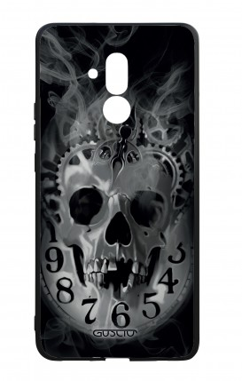 Huawei Mate20Lite WHT Two-Component Cover - Skull & Clock