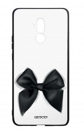 Huawei Mate20Lite WHT Two-Component Cover - Black Bow