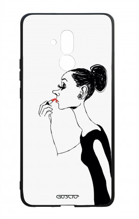 Huawei Mate20Lite WHT Two-Component Cover - Lady with Lipstick