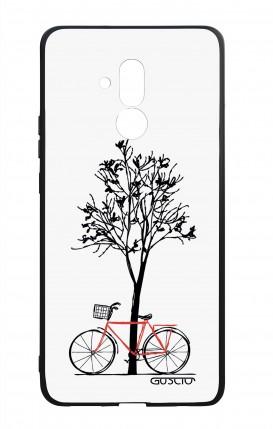 Cover Bicomponente Huawei Mate 20 Lite - Albero e bicicletta