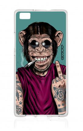 Cover TPU Huawei P8 Lite  - Scimmia felice