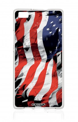 Cover Huawei P8 Lite - Bandiera americana
