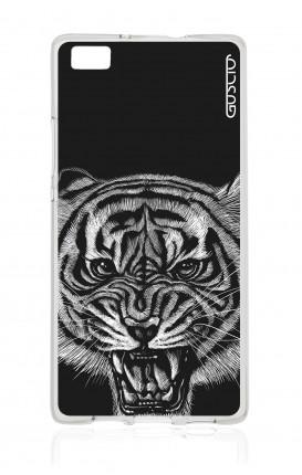 Cover TPU Huawei P8 Lite  - Tigre nera