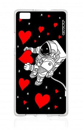 Cover Huawei P8 Lite - L'amore nello spazio
