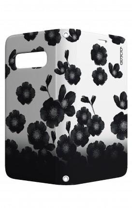 Cover STAND Samsung S10 Plus - Fiori neri sfumati