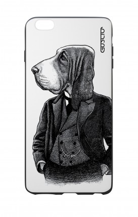Apple iPhone 7/8 Plus White Two-Component Cover - Dog in waistcoat