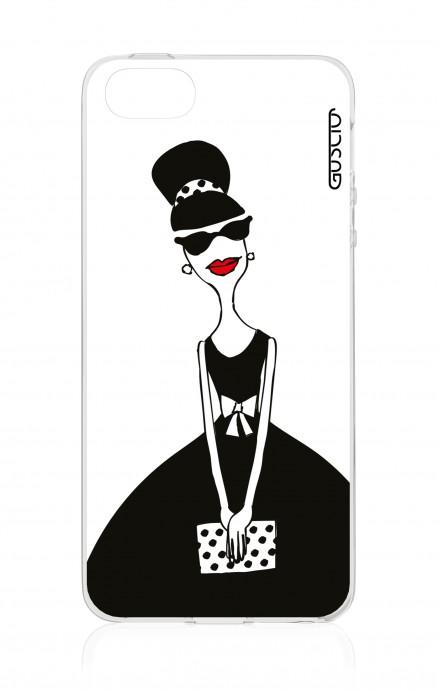 Cover Apple iPhone 5/5s/SE - Signora con borsetta