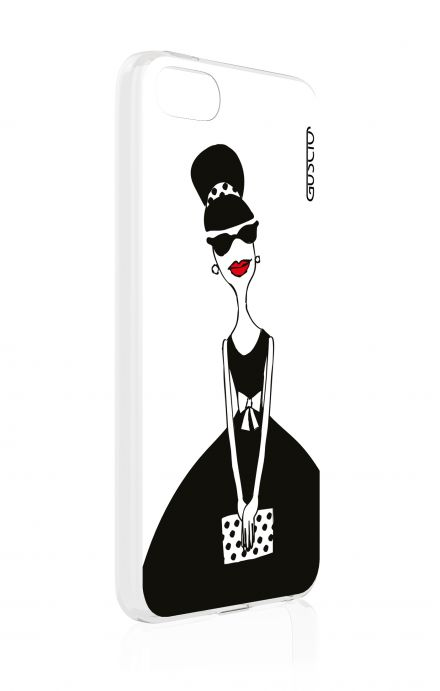 Cover Apple iPhone 5/5s/SE - Miss with Handbag