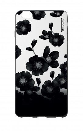 Apple iPhone 7/8 Plus White Two-Component Cover - Black Shade Flowers