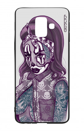 Cover Bicomponente Samsung J6 2018 WHT - Pin Up Clown Chicana