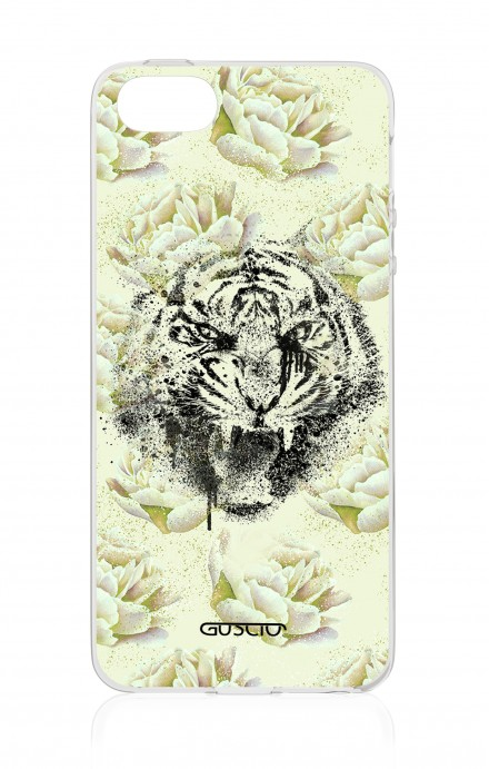 Cover Apple iPhone 5/5s/SE - White Flower Tiger