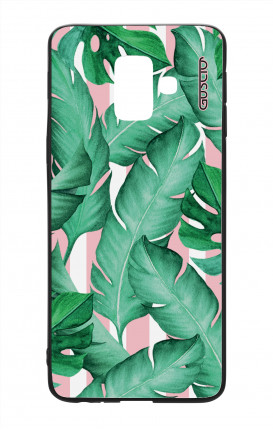 Samsung A6 Plus WHT Two-Component Cover - Banano Leaves Pattern