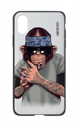 Cover Bicomponente Apple iPhone X/XS - Scimpanze con bandana
