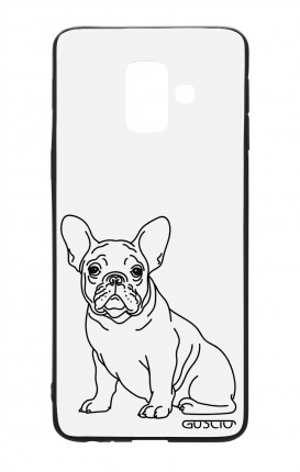 Samsung A6 Plus WHT Two-Component Cover - French Bulldog