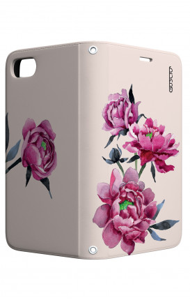 Case STAND Apple iphone 5/5s/SE - Pink Peonias