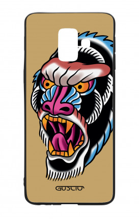 Samsung A6 Plus WHT Two-Component Cover - Ape Tattoo on ochre