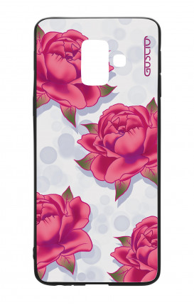 Cover Bicomponente Samsung A6 Plus WHT - Pattern di rose
