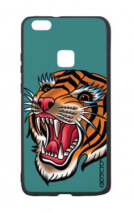 Cover Bicomponente Huawei P10Lite - Tigre Tattoo su ottanio