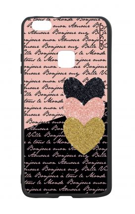 Huawei P10Lite White Two-Component Cover - Hearts on words