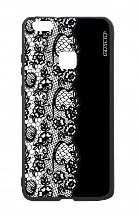 Cover Bicomponente Huawei P10Lite - Pizzo bianco e nero