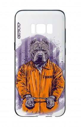 Cover Bicomponente Samsung S8 - Cane carcerato bianco