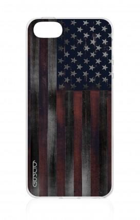 Cover Apple iPhone 5/5s/SE - Bandiera americana scura