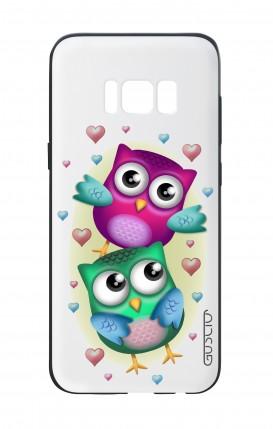 Cover Bicomponente Samsung S8 - Coppia di gufi