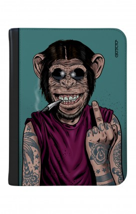 "Case UNV TABLET 9-10"" WHT/BLK - Monkey's always Happy"