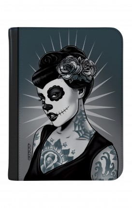 "Cover Universal Tablet Case per 9/10"" display - Calavera bianco e nero"