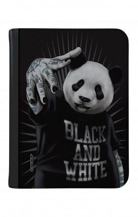 """Case UNV TABLET 9-10"""" WHT/BLK - B&W Panda"""