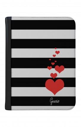 "Case UNV TABLET 9-10"" WHT/BLK - Loving Stripes"
