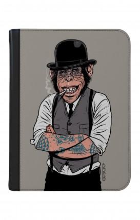"""Cover Universal Tablet Case per 9/10"""" display - Scimmia con bombetta"""