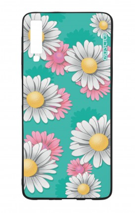 Samsung A7 2018 WHT Two-Component Cover - Daisy Pattern