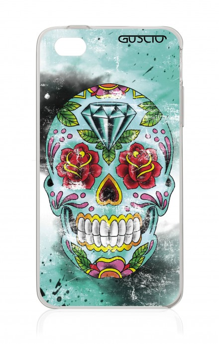 Cover Apple iPhone 4/4S - Calavera azzurro