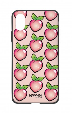 Apple iPhone XR Two-Component Cover - Peaches Pattern Kawaii