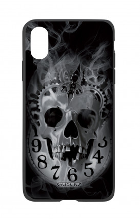 Apple iPhone XR Two-Component Cover - Skull & Clock
